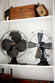 They'll come at a cost, but let's leave the orrid plastic fans behind to force us to buy some decent metal ones next summer. If this office is going to be warm these fans will be visible for most of the year - so they need to look nice. Money well spent.