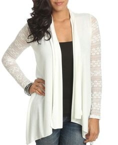 Lace Sleeve Wrap - Teen Clothing by Wet Seal - StyleSays