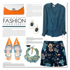 """Turquoise"" by tinayar ❤ liked on Polyvore featuring River Island, L'Agence, Salvatore Ferragamo, Miu Miu and INC International Concepts"