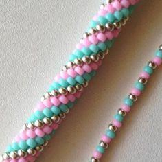Bracelet spirale au crochet en perles MiyukiBeadwork – Bead Crochet Bracelet in grey and…How to Crochet a BraceletCrochet Boho Bead Bracelet – Bohemian Beaded… Crochet Bracelet Pattern, Crochet Beaded Bracelets, Bead Crochet Patterns, Beaded Bracelets Tutorial, Beaded Bracelet Patterns, Seed Bead Bracelets, Beaded Earrings, Beading Patterns, Beaded Bracelets