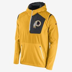 REPRESENT YOUR TEAM The Nike Vapor Speed Fly Rush (NFL Redskins) Men's Training Jacket combines weather-resistant nylon fabric with fitted thermal sleeves for lightweight comfort and excellent mobility, on the field and off. Benefits Dri-FIT mesh helps keep you dry and comfortable Articulated Hyperwarm sleeves give you mobility and insulated comfort Scuba hood zips up to your chin for warmth and coverage Media pocket at the chest safely secures devices and keeps cords out of the way…