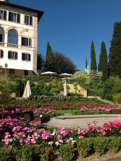 Historic Italian garden at Il Salviatino luxury hotel in Florence Italy, Tuscany at its best