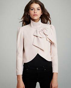 Alice + Olivia Addison Bow Jacket #fashion #style