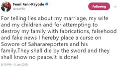 FFK Places A Curse On Sowore & Family