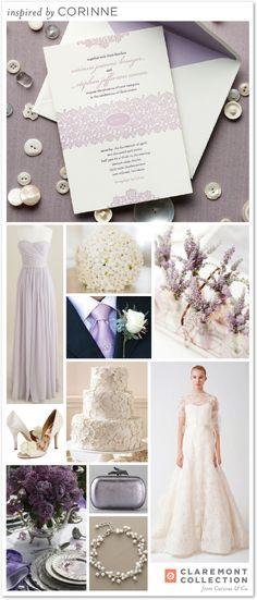 claremont collection corinne. #wedding #invitation #purple #lilac #lavender