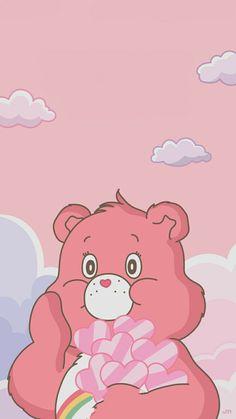 Cute Patterns Wallpaper, Cute Wallpaper Backgrounds, Wallpaper Iphone Cute, Cute Cartoon Wallpapers, Bear Wallpaper, Kawaii Wallpaper, Baby Pink Aesthetic, Disney Phone Wallpaper, Aesthetic Photography Nature