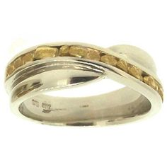 Women's Custom Alaskan Gold Nugget Wedding Band. Style#: GRW360WG - Gold Nugget Jewelry by Alaskan Gold Rush Fine Jewelry - Fairbanks, Alaska - 907-456-4991 - www.goldrushfinejewelry.com