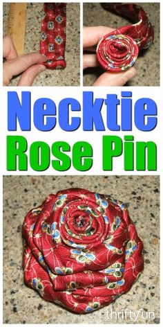 This is a guide about making a men's silk tie rose pin. Using a tie in your choice of color, you can make this lovely pin for your lapel or purse.