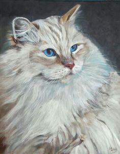 Acrylverf op doek 40 x 50 cm Verkocht is als voorbeeld bedoeld. - CAT - GATO