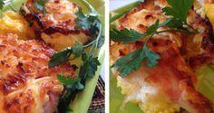 Mamaliga cu cas si bacon la cuptor – o mancare traditionala romaneasca adaptata   FoodGeek - Retete Culinare Bacon, Nutrition, Chicken, Meat, Food, Eten, Meals, Cubs, Kai