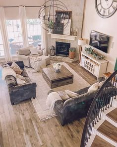 How to Update Your Builder Grade Home: Part 1 - Life by Leanna New Living Room, My New Room, Living Room Interior, Living Room Setup, Cozy Living Rooms, Armchair Living Room, Living Room Decor Ideas Apartment, Living Room Layout With Fireplace And Tv, Living Room Layouts