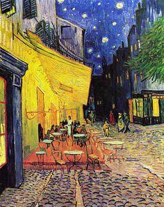 Terrazza del caffè la sera, Place du Forum, Arles (Van Gogh, 1888)