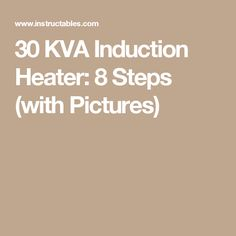 how to make induction heater step by step