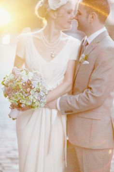 sarah + greg | Crepe de Chine Gown from BHLDN | simply bloom photography | via: style me pretty