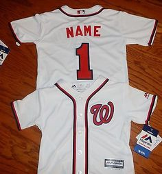 ca5f13535fc Washington Nationals Cool Base MLB Majestic Infant Replica Jersey add name  numbr