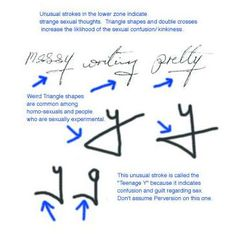 handwriting analysis d loops on a bow