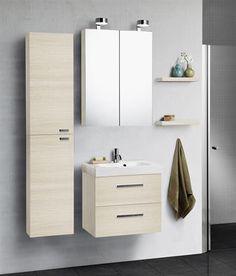 Dansani Luna baderumsmøbel på 60cm i Champagne. #Dansani #luna #badeværelsesmøbel #baderumsmøbel #spejlskab #vvscomfort