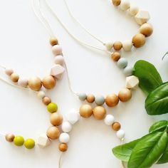 Quadra Organic Wood and Silicone Teething Necklace