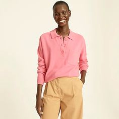 Women's New Arrivals | J.Crew Fall Looks, Sweater Outfits, Collars, Knitwear, J Crew, Organic Cotton, Cashmere, Sweaters For Women, Pullover