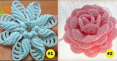 These free crochet flower tutorials are just what you need to create all the…