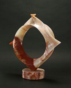 T Barny Capriccio Persian Onyx 18 x 17 x 4 at Hunter Kirkland Contemporary Gallery on Canyon Road