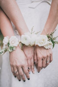 Corsages for the Bridesmaids | Bohemian Wedding Inspiration
