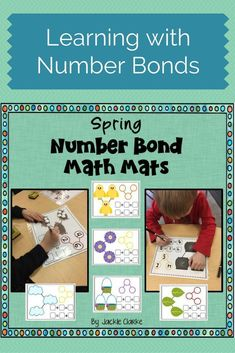 Looking for hands on ideas and activities to introduce number bonds? These 11 spring math mats (including Easter and St. Patrick's Day) were made to help students grasp the concept of part part whole. Each printable template includes: a pictorial number bond to compose and decompose numbers with counters or drawings, a traditional number bond, and equation boxes for addition number sentences. Great practice for kindergarteners, first 1st graders or second 2nd graders in small groups or…