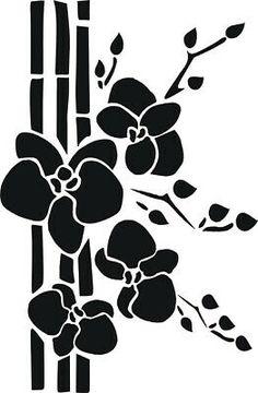 Stencil Schablone Bambus mit Orchidee Stencil Schablone Bambus mit Orchidee The post Stencil Schablone Bambus mit Orchidee appeared first on Ruby Sanders. Stencil Templates, Stencil Designs, Printable Stencil Patterns, Stencil Painting, Fabric Painting, Silhouette Design, Dragon Silhouette, Flower Silhouette, Diy Tattoo