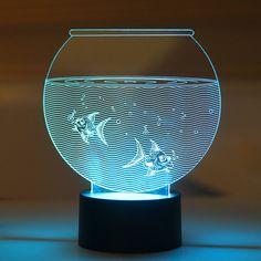 Aquarium LED Night Lamp #LEDnightLamp #NightLamp #3DLamp #TableLamp #3DNightLamp #Shopping