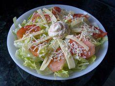 Salada fácil 2 queijos com maionese tártaro