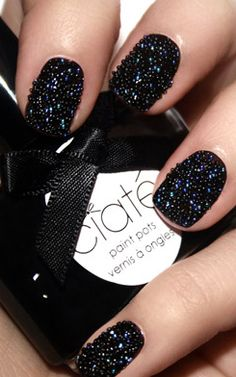 """caviar mani"" done with beads... seen on the runway at Cushie et Ochs' Fall 2011"