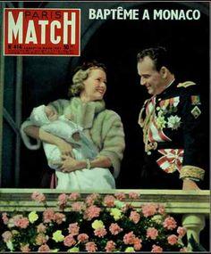 Paris Match N°414 du 16/03/1957 ( Grace Kelly maman / Françoise Sagan / Maroc ) La naissance de Caroline