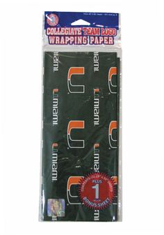 Miami Hurricanes Gift Wrap