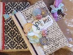 Canvas Covers Mini Scrapbook Tutorial Part 1 Scrapbook Cover, Love Scrapbook, Scrapbook Pages, Book Journal, Journal Cards, Garden Journal, Journal Ideas, Mini Albums, Mini Album Tutorial