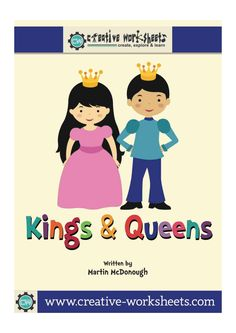 """Preschoolers love fantasy play and this theme """"plays"""" right into that! There is so much potential draw children into learning with this theme! Children are fascinated with castles, jewels, dragons, and persons of royalty. This year give your preschoolers a taste of royalty with a preschool theme on kings and queens that will transform your classroom into a royal kingdom.   Included are worksheets and activities to help your classroom theme."""