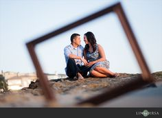Orange County Beach Engagement | Nick and Wendy- love the frame position and the beach in the back