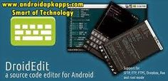 DroidEdit Pro (code editor) v1.19.0 Apk Free Download | Androidapkapps - DroidEdit Pro (code editor) is a text and source code editor (similar to Notepad++ or gedit) for android tablets and phones. Read too : Olive Office Premium v1.0.92 Apk Free Download.