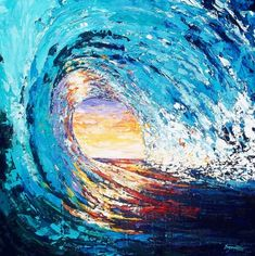 #Art #Artwork #Painting #ContemporaryArt #Nature #Wave #SuzanneKing #GetArtUp