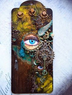 Mixed Media Place: Looking And Seeing - two view with eye closed and eye open; Oct 2014