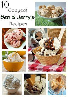 Who doesn't love some Ben & Jerry's! 10 Copycat Ben & Jerry's Recipes. #Ben&Jerry's  (scheduled via http://www.tailwindapp.com?utm_source=pinterest&utm_medium=twpin&utm_content=post277311&utm_campaign=scheduler_attribution)