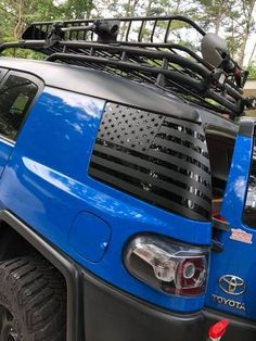 Custom fit american flag decals for the FJ Cruiser or any model car. Made with control tac vinly for an easy installation. We use air release vinyl to make all of our graphics. Email us for a custom graphics. Lifted Fj Cruiser, Fj Cruiser Off Road, Fj Cruiser Mods, Toyota Fj Cruiser, Custom Fj Cruiser, Tt Car, Fj Cruiser Accessories, American Flag Decal, Best Car Insurance