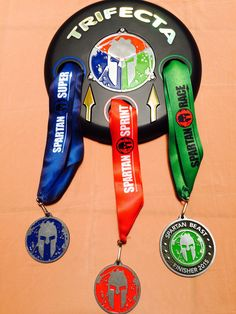The Spartan Delta Trifecta Holder And Medal Display I Made