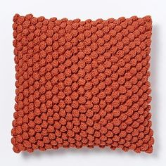 (FALL look: for leather chair )Bubble Knit Pillow Cover - Cayenne -Fall leather chair