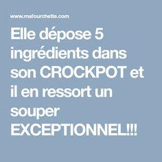 Elle dépose 5 ingrédients dans son CROCKPOT et il en ressort un souper EXCEPTIONNEL!!!