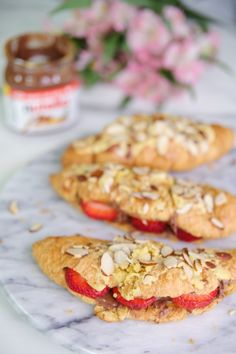 Almond Croissants Stuffed With Nutella!