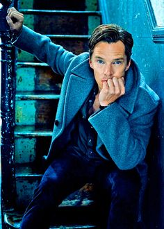 He may be one of the hottest sleuths on TV, but Sherlock actor Benedict Cumberbatch says the detective is far too busy catching bad guys and glaring into the middle distance to have sexy time with any ladies. Sorry, guys. Benedict Sherlock, Benedict Cumberbatch Sherlock, Sherlock Bbc, Funny Sherlock, Sherlock Season, Sherlock Quotes, Sherlock Poster, Sherlock Series, Best Portrait Photography