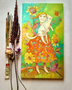 """1,522 отметок «Нравится», 49 комментариев — Elena Shafranskaya (@shafranskaya.art) в Instagram: «""""Маруся""""батик,натуральный шелк,45х25Моя попытка приблизиться к инситному искусству)))иногда…»"""