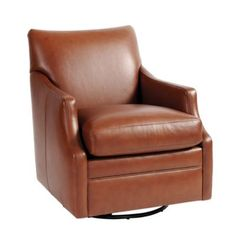 Larkin Leather Swivel Glider Ballard Design