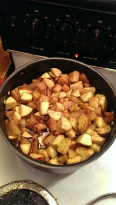 Homemade deer bait! Boil together apples, pears, syrup and brown sugar. Even add some vanilla! Deers love it