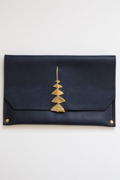 samantha grisdale navy dreamleaf clutch